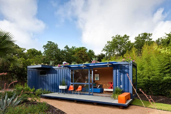 container14 Container guest house in metals architecture  with House Container
