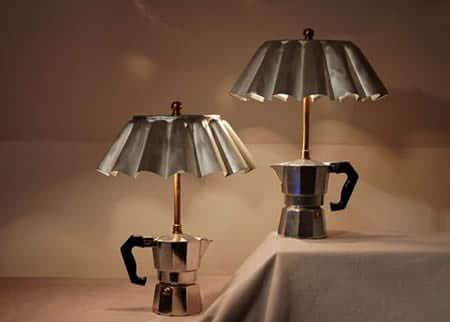 Unique lamps made of recycled 2 Coffee maker lamp in lights  with Light Lamp Coffee