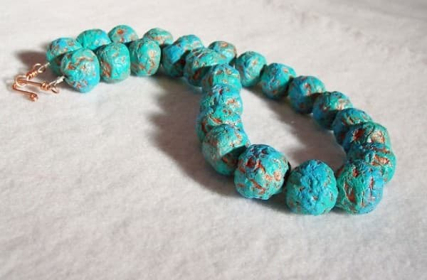 Recycled Paper Beads Necklace O Recyclart