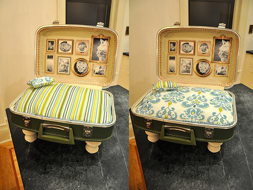Cat Bed From Upcycled Suitcase O Recyclart