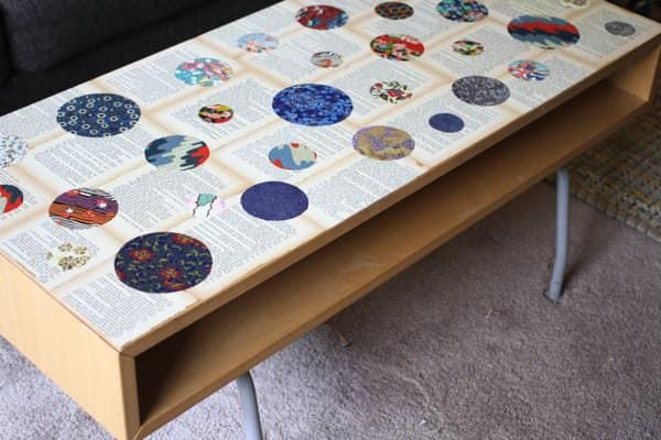 Recycled Novel Page And Washi Paper Coffee Table O Recyclart
