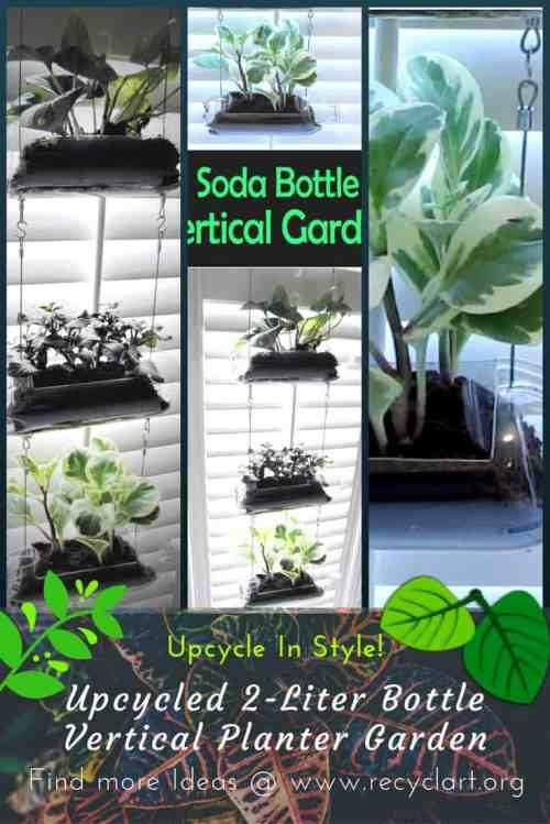 Medium Of Soda Bottle Vertical Garden