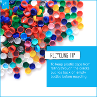 Recycling plastic bottles - Caps on or off?
