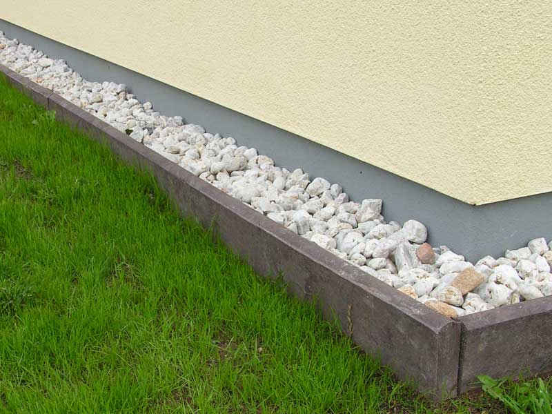 Recycled Mixed Plastic Border Edging Kerb Stone 260 X