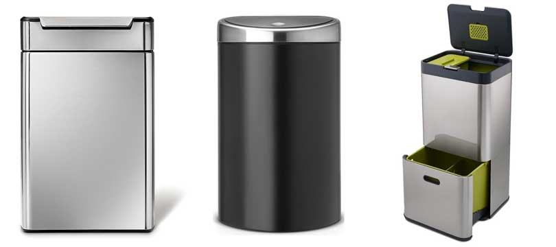 Trash Can Lid Mechanism Manual Step On Automatic Sensor