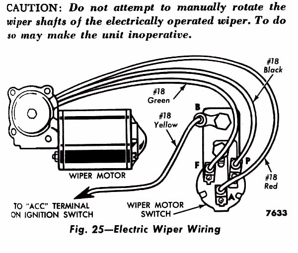 1952 ford truck windshield wiper diagram