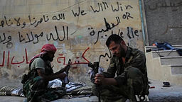 FSA, rebels, AK47s, Syria, civil war