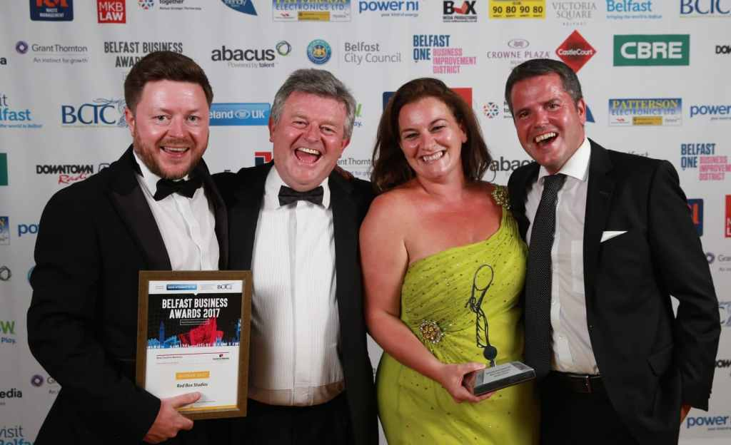 Best-Creative-Business-Redbox-Media-Donall-OConnor-Liam-Creagh-Oonagh-Derby-Martin-Heatly-Exterion-Media-Sponsor-