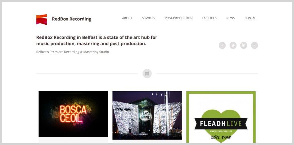 RedBox Recording website