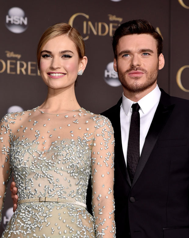 Lee Pace The Fall Wallpaper Lily James And Richard Madden Cinderella La Premiere
