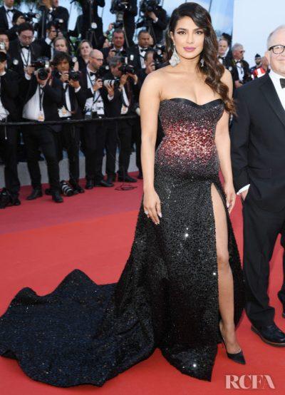 Priyanka Chopra In Roberto Cavalli Couture - 'Rocketman' Cannes Film Festival Premiere - Red ...