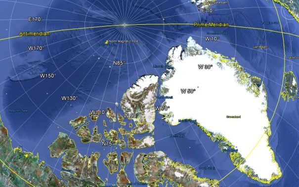 north magnetic pole