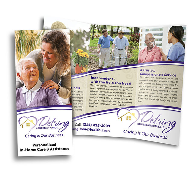 Detring Home Healthcare Brochure Red Crow Marketing - healthcare brochure