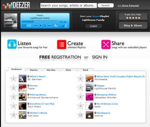deezer small Deezer   newest online jukebox offers free listening pleasure