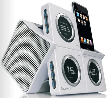 boynqwakeup small Boynq Wake Up   iPod speaker and alarm clock done stylish