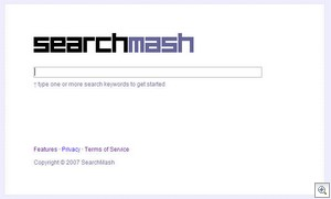 searchmash1 thumb Searchmash   stealth Google testbed points to the future of the search interface?