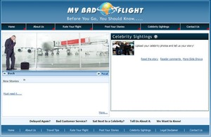 mybadflight small My Bad Flight   online noticeboard for awful airline experiences lands at last