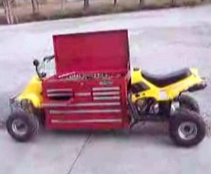 gaspoweredtoolbox small Gas Powered Tool Box   save your arms, let the ATV take the strain