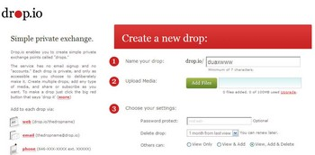 dropio small Drop.io   awesome new online share engine adds speed privacy and innovation to file sharing