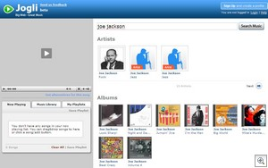 jogli2 thumb Jogli   very cool music search engine manages to deliver value in mega crowded market