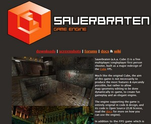 sauerbratengameengine2 small Sauerbraten Game Engine   build your own game worlds with this free tool