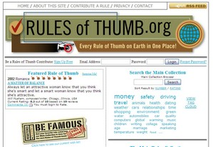 rulesofthumb small Rules of Thumb   the true wisdom of the crowds gets its own website