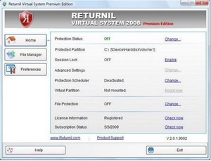 returnilvirtualsystem2008 small Returnil Virtual System 2008 PE   beat the malware merchants with a virtual partition