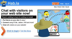 habla small1 Hab.la   chat to your site visitors using your IM program