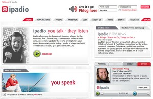 ipadio small iPadio   broadcast from your phone to the Internet