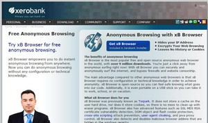 xbbrowser small xB Browser   Firefox offshoot offers anonymous secure web browsing