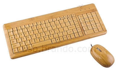 bambookeyboardandmouse USB Bamboo Keyboard and Mouse   Carve your own niche