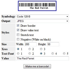 freebarcodegenerator small Free Online Barcode Generator   super easy way to make your own groovy barcodes