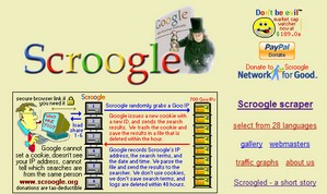 scroogle small Scroogle   secure Google searching with no cookies, no trace