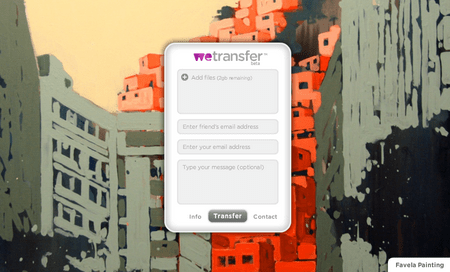 wetransfer 1 WeTransfer   Super simple big file transfers