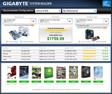 gigabytesystembuilder small Gigabyte System Builder   Configure the PC of your dreams