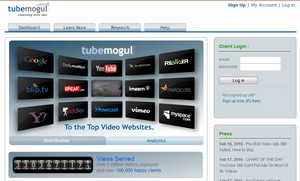 tubemogul small Tubemogul   distribute and track your video to multiple sites with one click