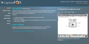 capturefox small Capture Fox   freeware delivers instant screencasts from your browser