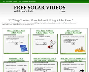 freesolarvideos small Free Solar Videos   12 things you must know before building a DIY solar panel