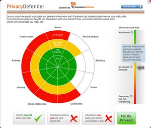 privacydefender small Privacy Defender   freeware automatically fixes your Facebook privacy settings