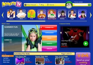 activitytv small Activity TV   childrens television on the web