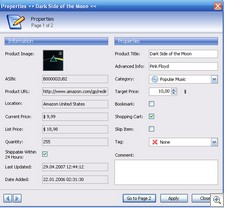amazonpricewatcher thumb Amazon Price Watcher   freeware lets you set your price target and wait for the bargains