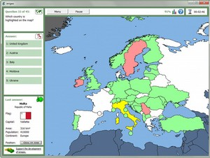 enigeo small Enigeo   freeware offers a great way to learn about the world