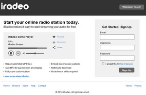iradeo small iRadeo   start your own online radio station for free