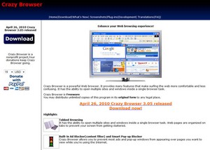 crazybrowser2 small Crazy Browser   the smallest, fastest loading, full featured web browser in the world