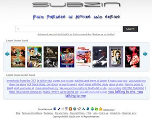 subzin small Subzin   search engine lets you locate a movie or TV series from a single quote