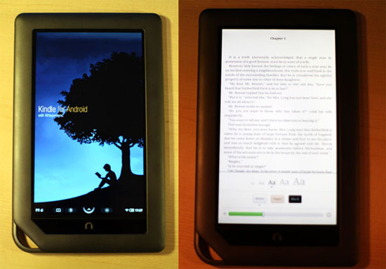 Hack your Nook Color to read Kindle books