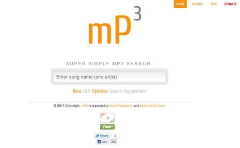 mp3 small MP3   super minimalist music search