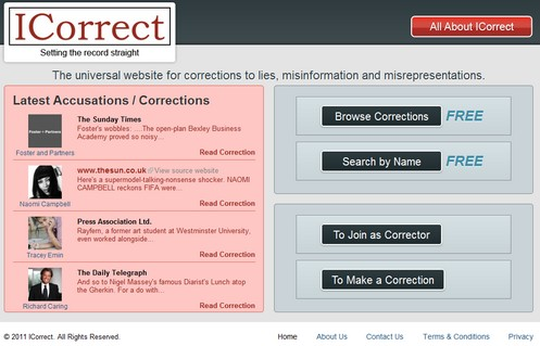 icorrect small iCorrect   the universal website for correcting media lies