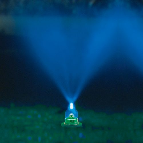 light mister Water And Light Lawn Show adds some color to your sprinkler