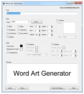 wordartgenerator Word Art Generator   freeware lets you create fancy word art and logos
